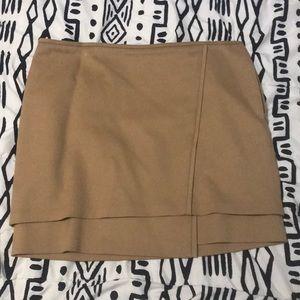 Faux wrap work skirt